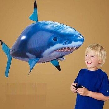 Globo en forma de pez con Control remoto de gran tamaño de 1,5 m para cumpleaños, boda, envío de anillo de diamante, globo de tiburón con Control remoto infrarrojo