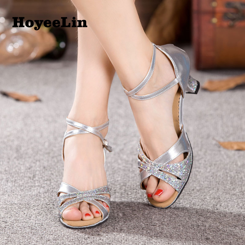 HoYeeLin Latin Dance Shoes Women Ballroom Tango Salsa Dancing Heels Sandals Latin Woman Dance Shoes Shoes For Dance black backless latin dance dress women latin dress dancing clothes dancewear rumba dress latina salsa dress latin dance costumes