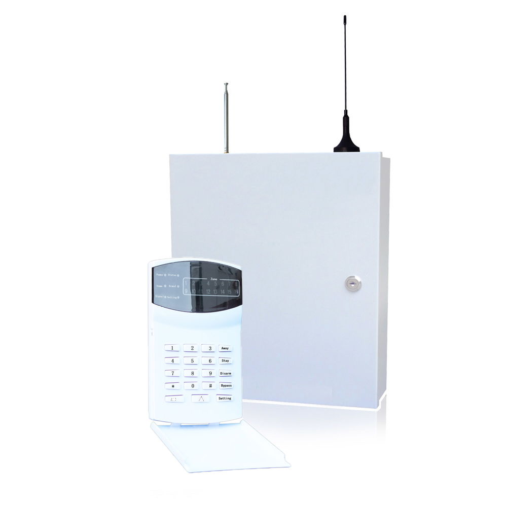 (1 set) Home security self-defense PSTN GSM SMS Alarm system 315/433MHz 16 wire and wireless zones LED keypad burglar alarm купить