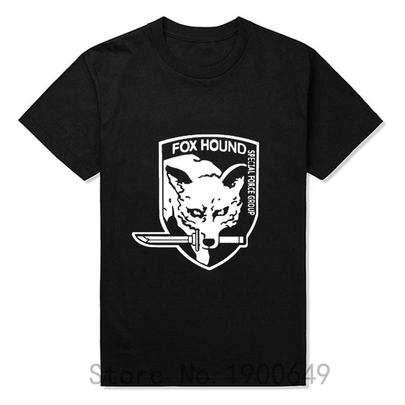 Summer New Metal Gear Solid MGS <font><b>Fox</b></font> <font><b>Hound</b></font> VideoGame T-shirts Tops Tees Short Sleeve Casual T Shirts