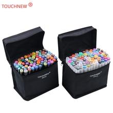 цены на TOUCHNEW Black and white 40 Colors Art Markers Brush Pen Sketch Alcohol Based Markers Dual Head Manga Drawing Pens Art Supplies  в интернет-магазинах