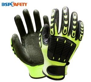 Image 1 - Schokabsorberende Mechanica Anti Trillingen Olie Gas Veld Veiligheid Impact Proof Slip Werkhandschoenen