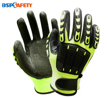 Shock Absorbing Mechanics Anti Vibration Oil Gas Field Safety Impact Proof Resistant Work Gloves
