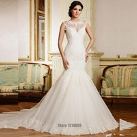 Mermaid Plus Size Wedding Dresses 2017 Vestidos De Noiva Lace Backless Wedding Gown Cheap Winter Dresses