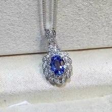 Collier tanzanite naturel, pierre gemme bleue, argent sterling 925, magasin de pierres précieuses colorées, pierres précieuses minées dans les montagnes naturelles