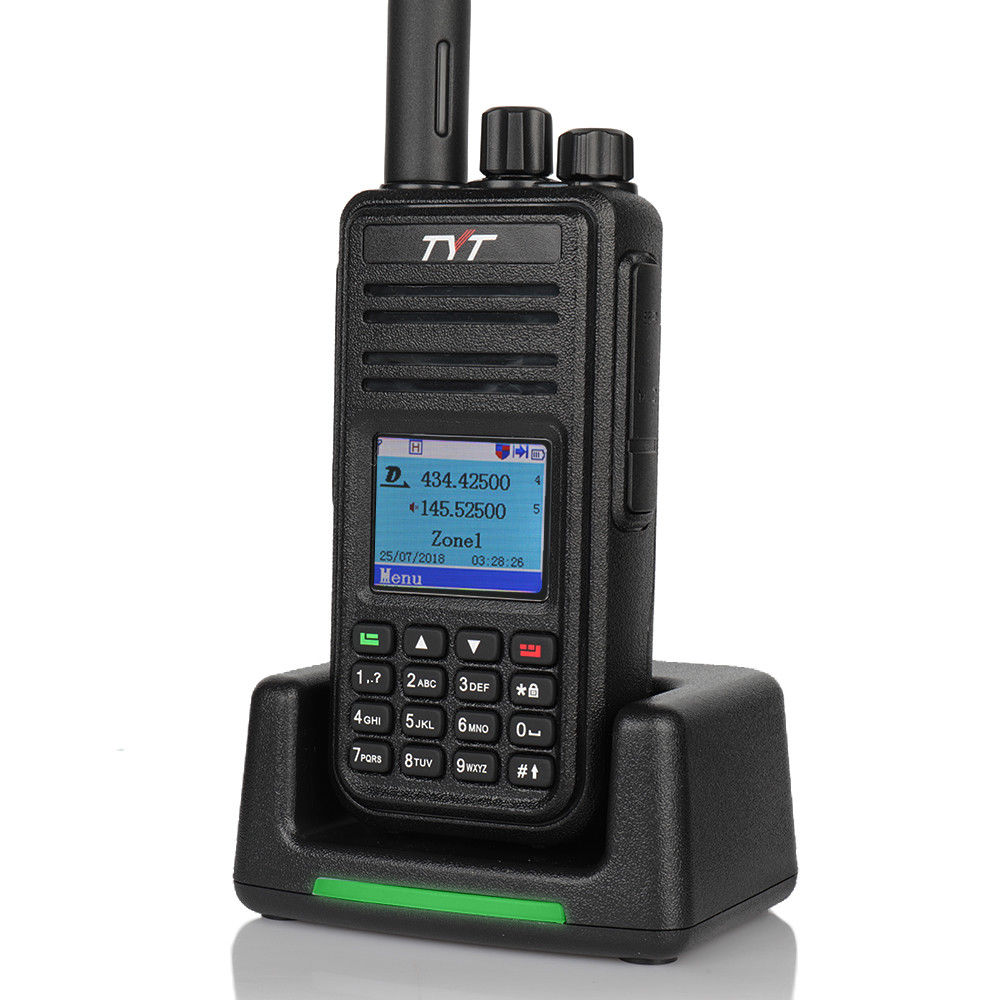 US $143 91 10% OFF|TYT Upgrade Version MD UV380 GPS Dual Band Ham Amateur  DMR Tier II Analog Two Way Digital Radio 136 174Mhz/400 480Mhz Handheld-in