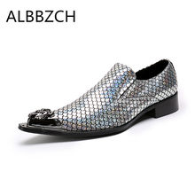 New mens golden silver fashion loafers party shoes men pointed toe wedding  dress shoes career work f4d25ed58116