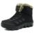 Inverno 2016 Homens de Couro Genuíno de Pele De Super Quente Botas de Neve Moda Homens Viajam Botas confortáveis Para Homens Sapatos Baixos Tamanho Grande 39-48