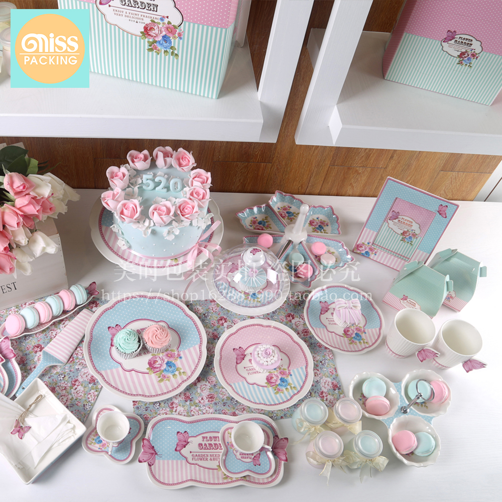 wedding ceramic Cake rack pastry cake dish Dessert plate Birthday party cold table tray home decor porcelain figurines gifts in Figurines Miniatures from Home Garden