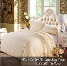 150*210cm White Comforter Silk Blanket Handmade Winter Silk Quilts Yellow colcha Pink edredon Silk Quilted Bedspread silk duvet bedspread ethel silk mediterranean style size 180 220 cm faux silk 100% n a