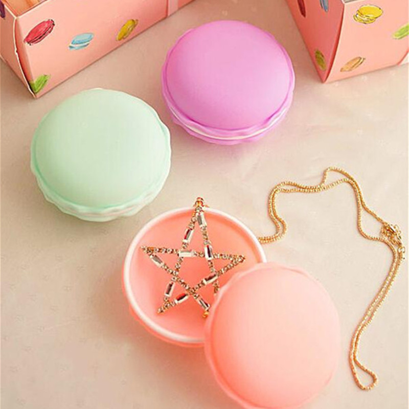 6pieces/lot Portable Candy Color Mini Macarons Gift Package Box Portable Storage Box For Small Items Lovely Jewelry Package Case