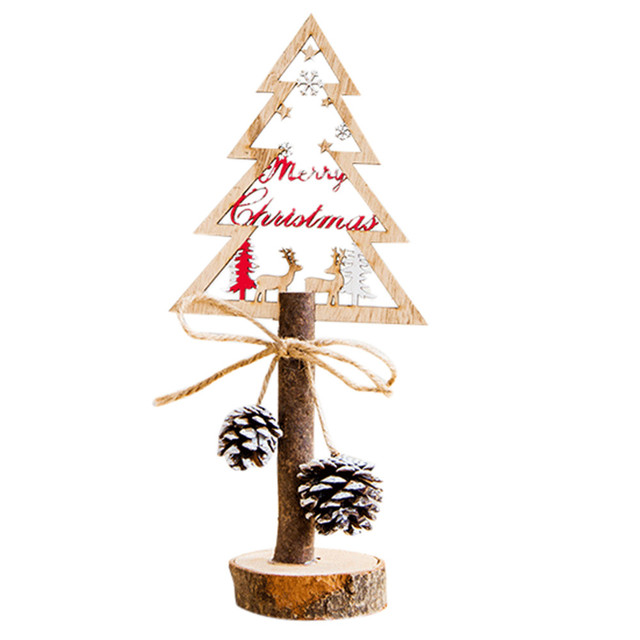 Us 4 5 30 Off Fashion Home Decor Gifts Creative Painted Christmas Wooden Tabletop Decoration Christmas Decorations For Home In Trees From Home