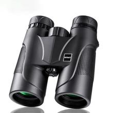 лучшая цена 10X42 Powerful Binoculars For Hunting High Definition Waterproof Camping Black Military Binocular Telescope Outdoor Sport