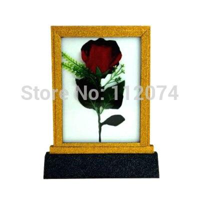 Foudre Rose cadre change, Rose apparaissant dans le cadre tours de Magie fleur Magie scène Illusion Gimmick accessoires magicien comédie