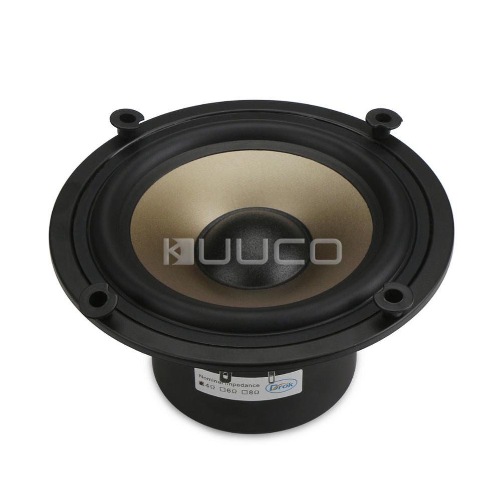 50W Loudspeaker 6.5 inches 4 ohms Subwoofer Speaker/Bass Audio Speaker/Woofer Speaker for Car/Home Theater/DIY Speakers audio loudspeaker 40w woofer speaker double magnetic speaker 4 5 inch 4 ohms subwoofer bass speaker for diy speakers