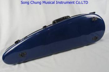 Excellent blue glass fiber Knife shaped violin hard case4/4,fine workmanship