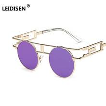 LEIDISEN Steampunk Gothic Sunglasses Men Women Brand Designe