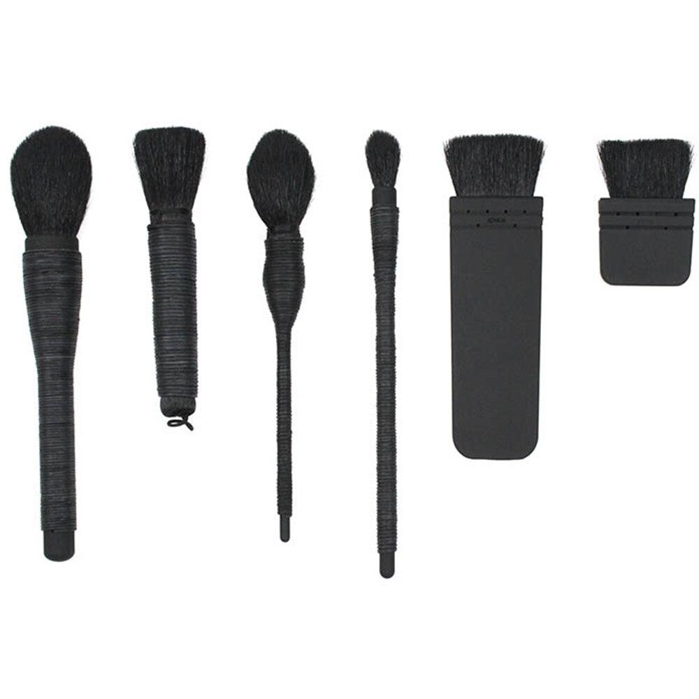 6 Pcs/1 Set Profesional Goat Wool Make-up Brushes Eye Shadow Blusher Lipstick Powder Foundation Make Up Beauty Brushes Tool тушь make up factory make up factory ma120lwhdr04