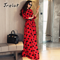 JRQIOT 2016 New Autumn Winter Women Casual Print Dress O Neck Long Sleeve Long Bodycon Slim High Waist Vintage Dresses Vestidos