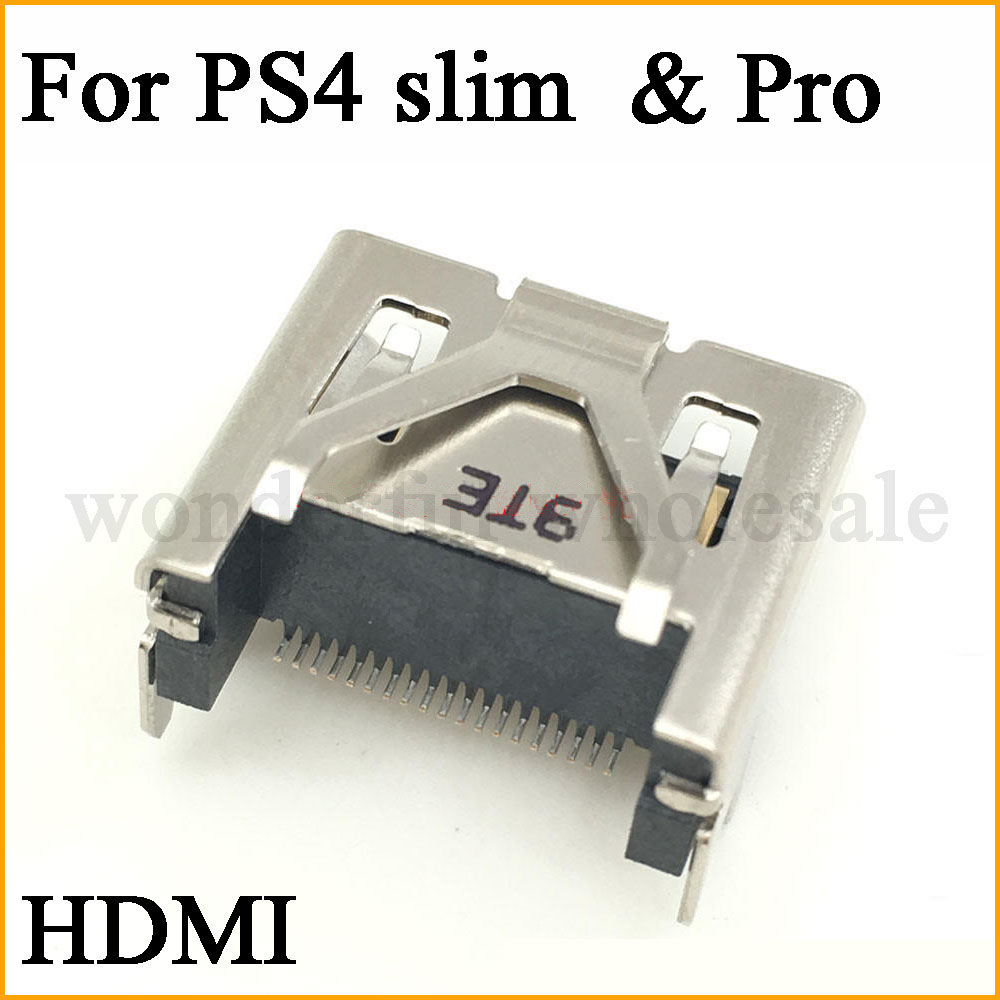 1X For Sony PlayStation PS4 Pro & Slim Display HDMI Socket Jack Connector For PS4 Slim Console HDMI Port
