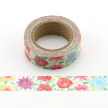 1pc Beautiful colorfuls sunflower Decorative Washi Tapes Paper DIY Scrapbooking Adhesive Masking Tapes 10m School Office Supply
