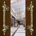 Europen Retro de madera puerta puerta tirones de la puerta manijas de Bronce grande de cobre antiguo Ktv Hotel de Ministerio del interior puerta de madera maneja accesorios