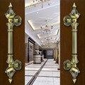 Europen porta puxa puxadores das portas de Bronze grande portão de madeira Retro cobre antigo Ktv Hotel de Escritório Em Casa de madeira porta lida com acessórios
