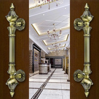 Europen Reteo Wooden Door Handles Bronze Big Gate Door Pulls Antique Copper Ktv Hotel Home Office