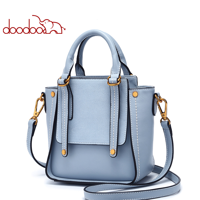DOODOO Women Pu Leather Handbag Luxury Handbags Women Bags Designer Female Shoulder Crossbody Bags Ladies Top-handle Tote Bag teridiva luxury handbags women bags designer messenger shoulder bag brand ladies crossbody leather bags tote bag fashion handbag