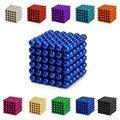216 unids 3mm Imanes de Neodimio Bolas Magnéticas Esferas bolas Cubo Mágico Puzzle Regalo de Cumpleaños de Cumpleaños Miniaturas