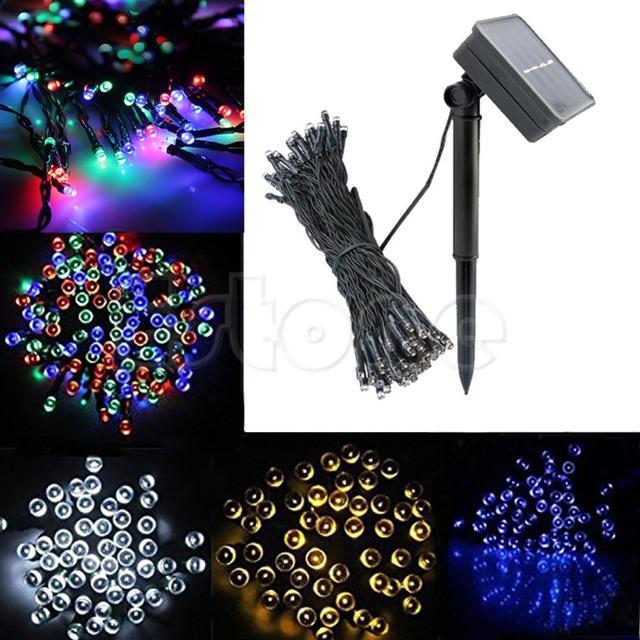 200 Led de Energía Solar Lámpara de La Secuencia de Hadas de Luz Del Partido de Halloween de Navidad Deco Al Aire Libre