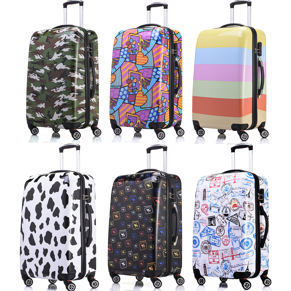 1 Piece Women Men Luggage Suitcase 20 24 28 Hard Shell Abs