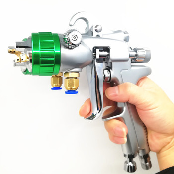 Pressure feed spray guns  high quality double nozzle spray gun  wall painting ZY8073 nano spraying water glue spraying 1.4mm