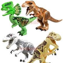 Marvel Jurassic World Dinosaur Figures Tyrannosaurs Rex Building Blocks Compatible With Legoings Dinosaur Toys все цены