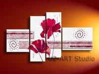 Абстрактная картина маслом, холсте, орнамент, товары для дома, ручная роспись gp81