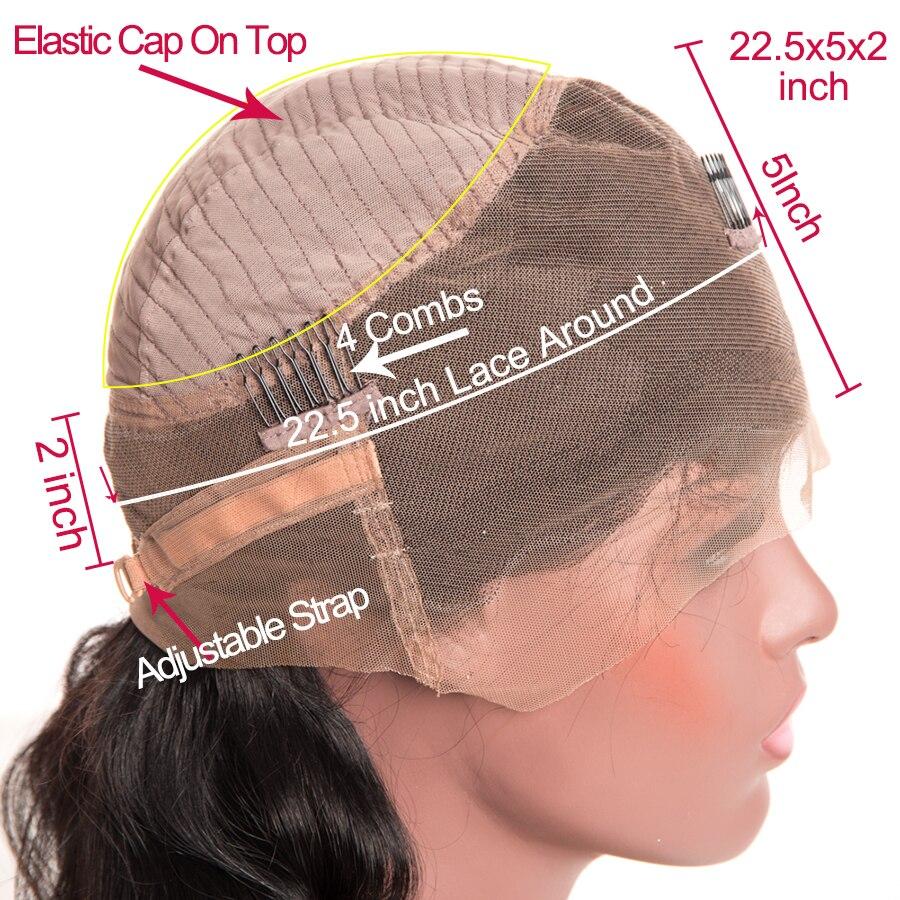 360 레이스 정면 가발 브라질 바디 웨이브 레이스 - 인간의 머리카락 (검은 색) - 사진 4