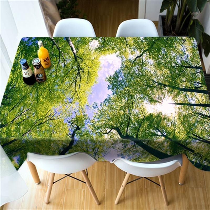 Leaf Table Cloth Round Square Rectangle Cover for Table Coffee Dinning Decoration 90*90 90*150 <font><b>140*180</b></font> 140*220cm image