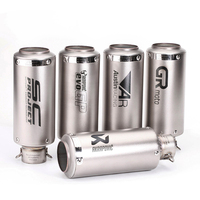 Motorcycle modified to increase sound power 51MM caliber round barrel tail exhaust pipe SC Scorpio AR GPexhaust pipe