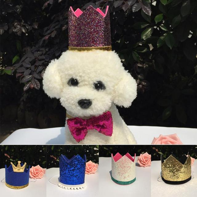 New Pet Party Birthday Hats Dog And Cat Crown Childrens Costume Headwear