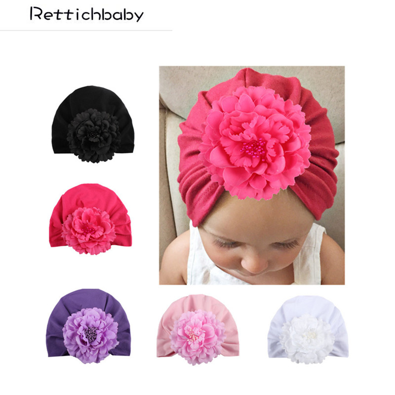 Baby New Fashion Hat Infant Cute Solid Flower Indian Baby Hat