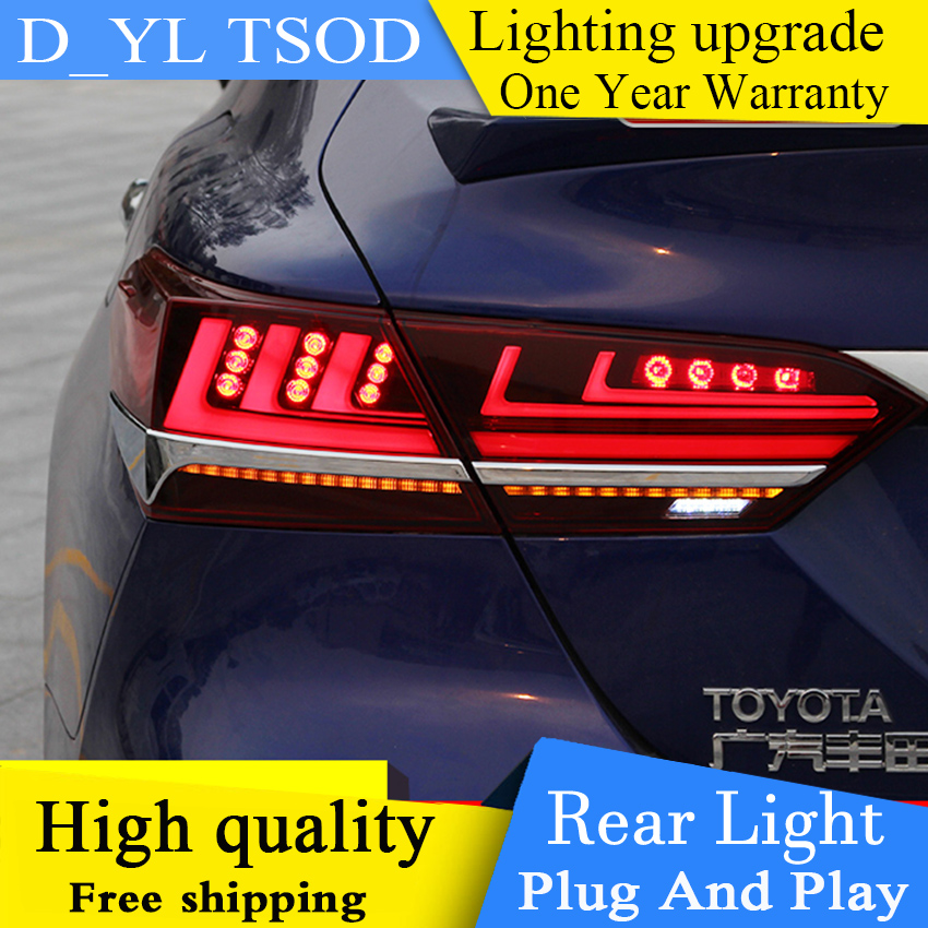 Car Styling Tail Lamp for Toyota Camry LED Tail Light 2018 LED Rear Lamp LED DRL