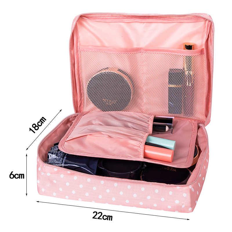 ... Women s Travel Cosmetic Bags Beautician Vanity Necessary Pouch Toiletry  Wash Bra Underwear Makeup Case Organizer Accessories ... 2eb00568e4fa4