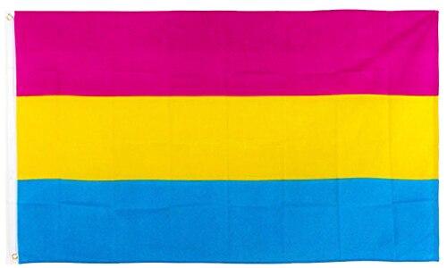 Подвешивающий 90*150 см омнисексуальный ЛГБТ Прайд pansexual флаг для украшения