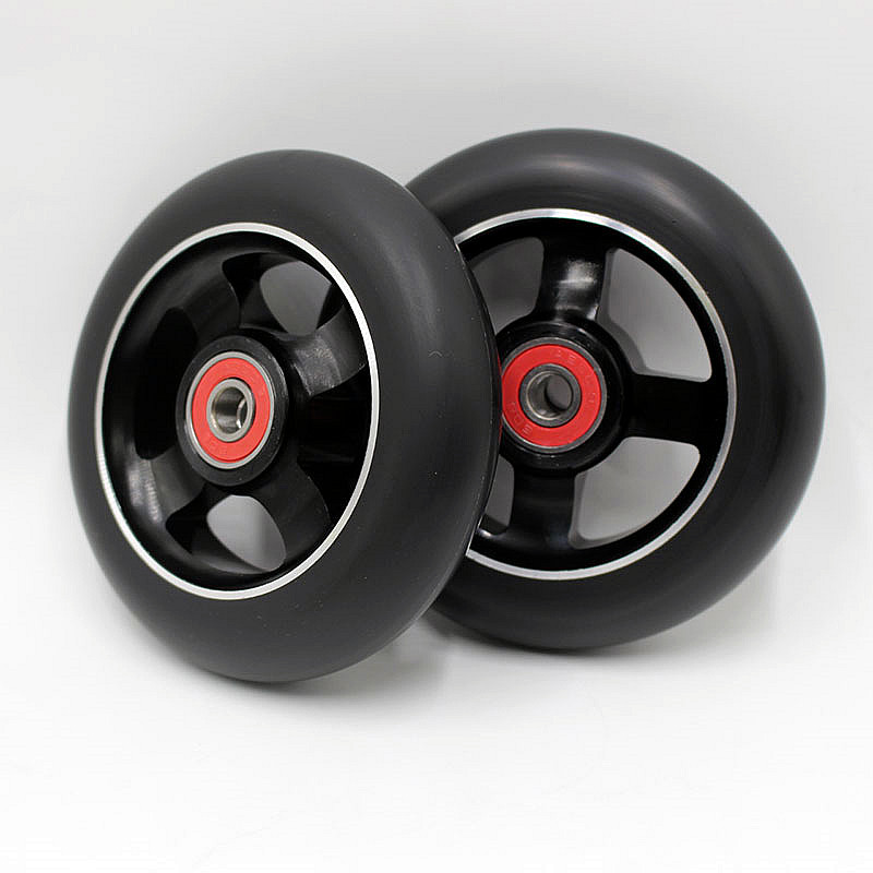 10 roues! grand escompte! 100mm 88a stunt scooter roues/ABEC-9 roulements/scooter roues