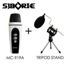 Микрофон для компьютера/смартфона/iphone/сотовый телефон/pc петь в Караоке 3.5 мм запись, конденсаторный микрофон MC-919A
