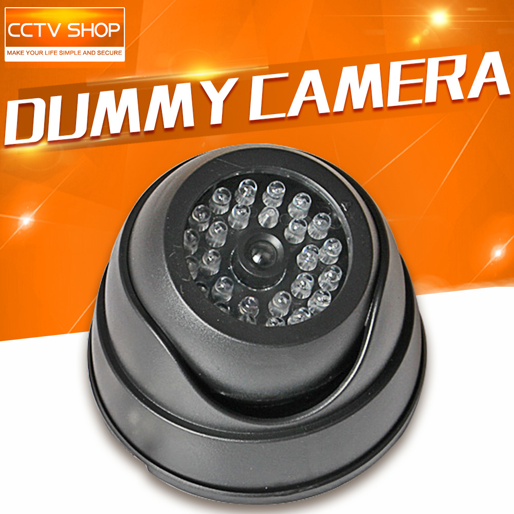 Black Fake Dummy Camera Security Camera With LED Flashing Lights For Property Security Use non working fake dummy phone sample display model for iphone 5