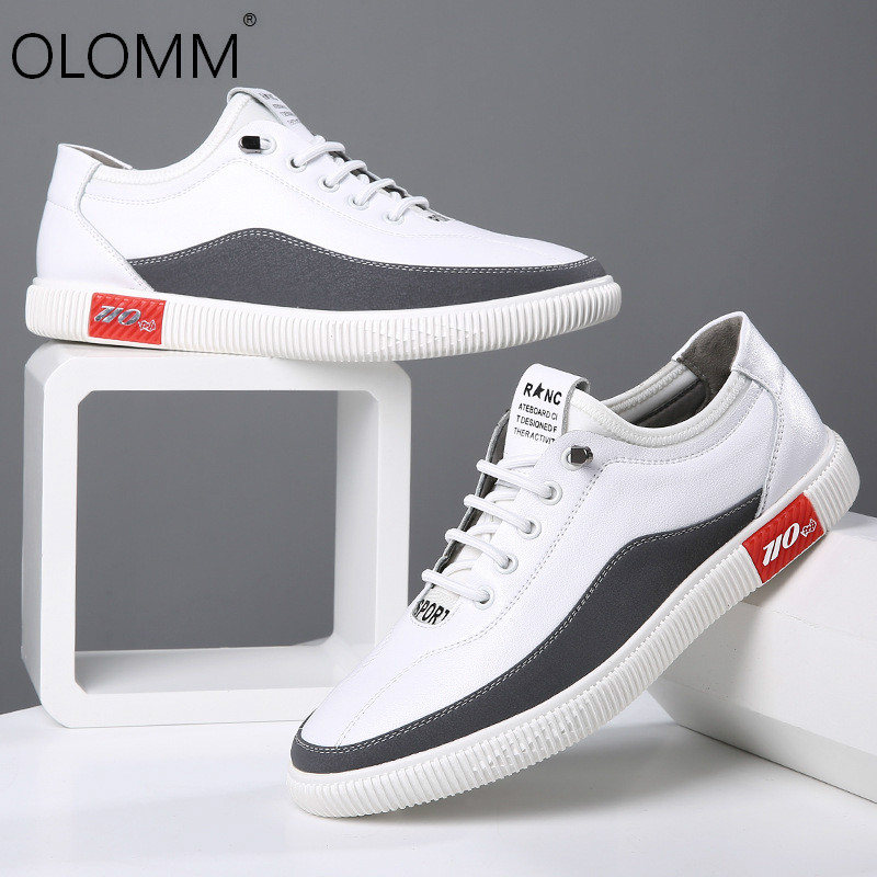 2019 Spring New Casual Breathable Leather Shoes Wild Comfortable Mens Shoes Sneakers  Loafers Zapatos De Hombre
