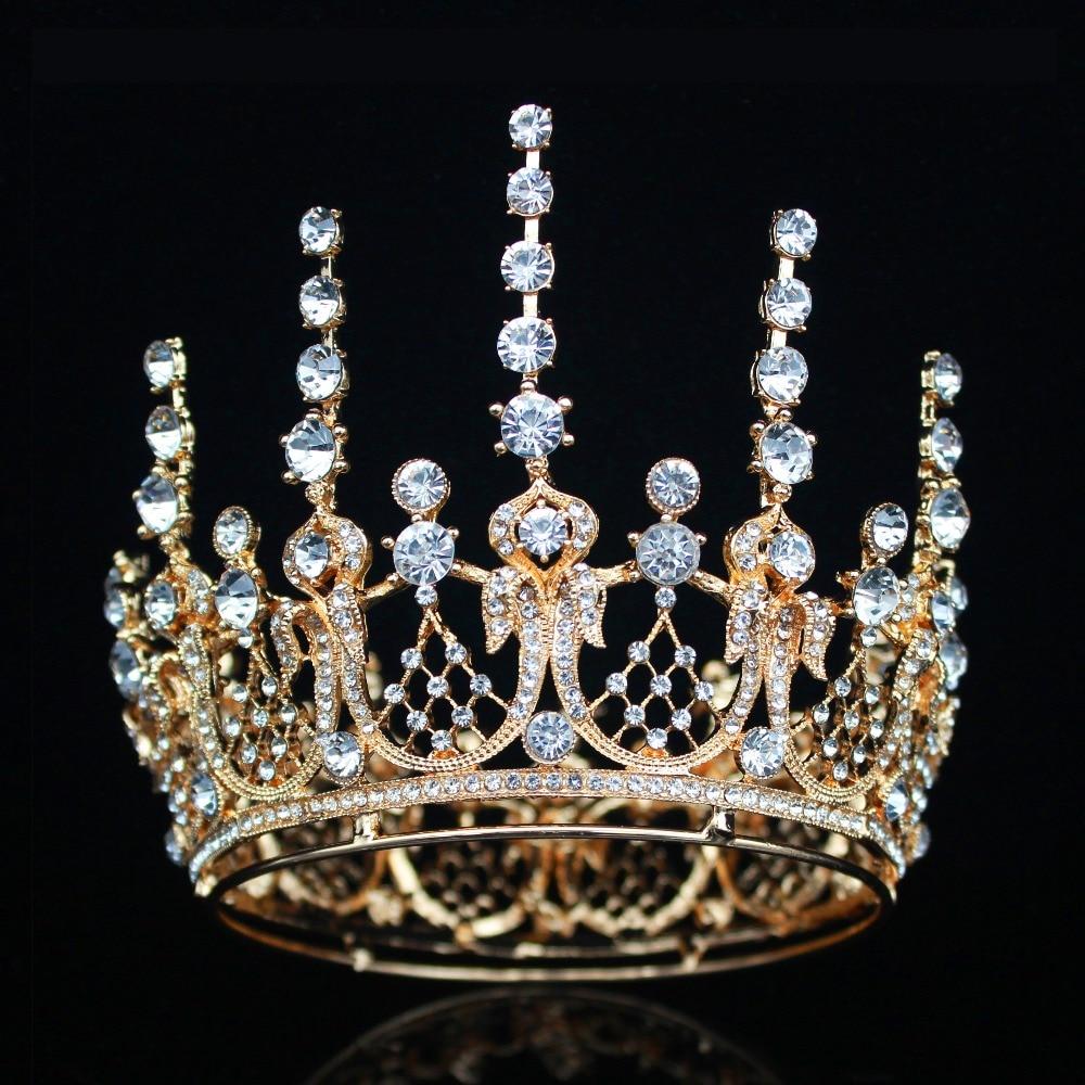 Tiara Crown Queen Bridal Hair Accessories Headpiece Hair Jewelry Bride Accessory