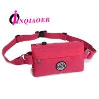 JINQIAOER Woman Waist Bags Waterproof Nylon Fanny Bag Molle Pouch Ladies Multilayer bag Travel Waist Belt Bag Coin Purse WH355
