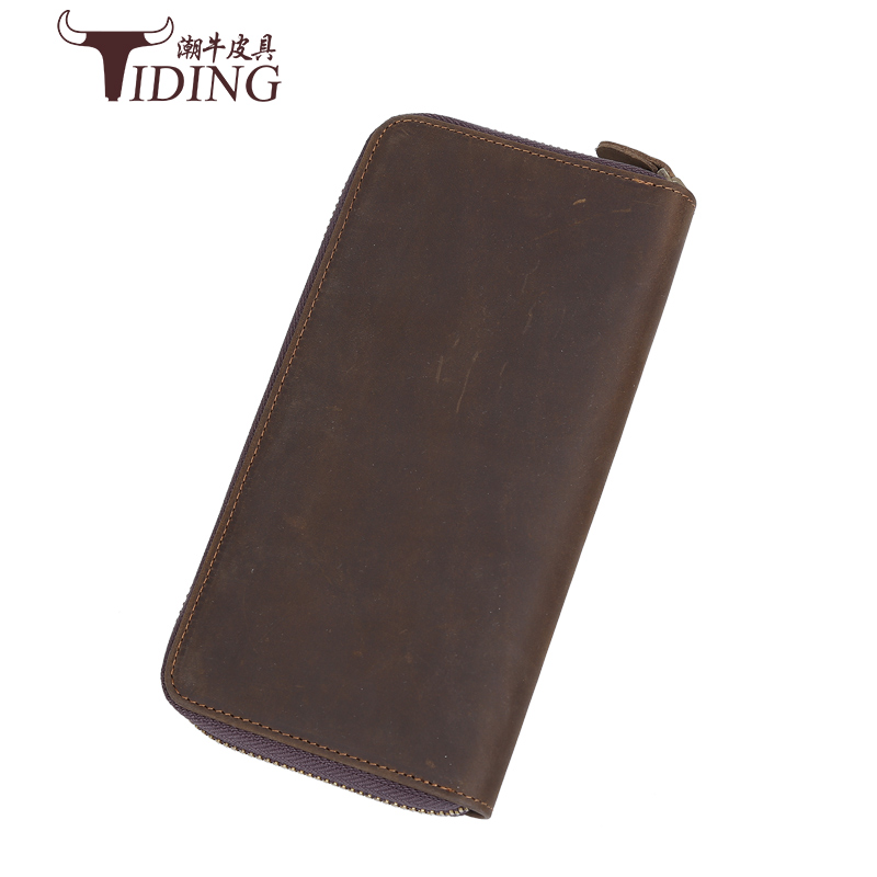 men business card holders real leather 2018 new  man crazy horse leather dress ID holders business credit card money wallets